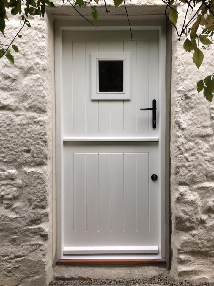 Classic White Stable Door in Cornwall